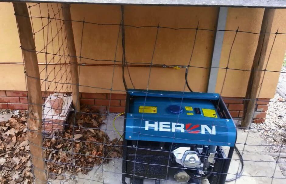 Heron gázos áramfejlesztő sziget üzemben