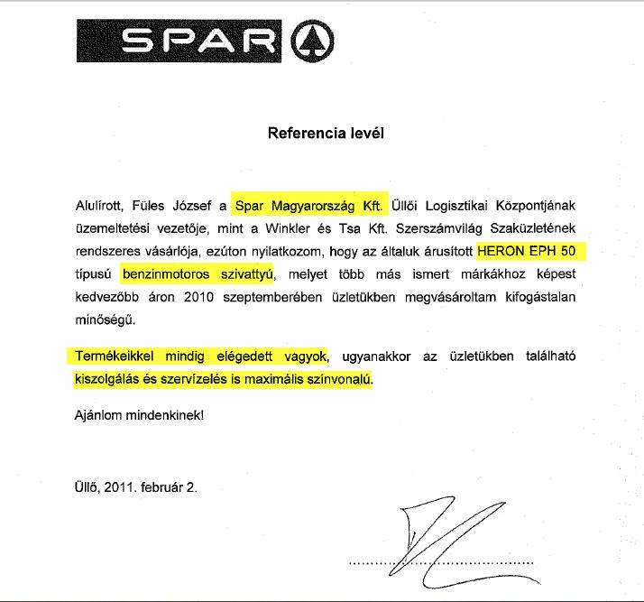 A SPAR is minket választott